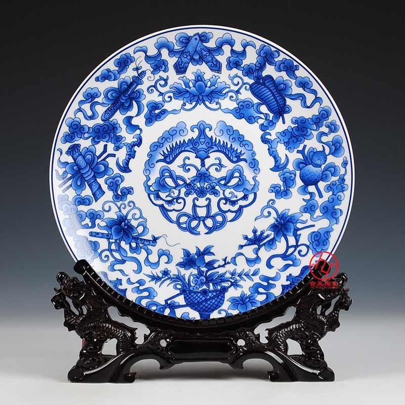 定做陶瓷大瓷盘,景德镇大盘子定做