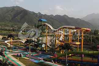 绿沁游乐设备 大型水滑梯 水上飞龙