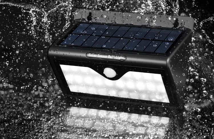 爆款太阳能壁灯 红外感应28LED灯户外防水太阳能草坪庭院灯福康
