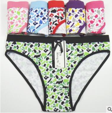 全棉印花女士三角裤出口外贸女内裤 速卖通eBay货源内裤