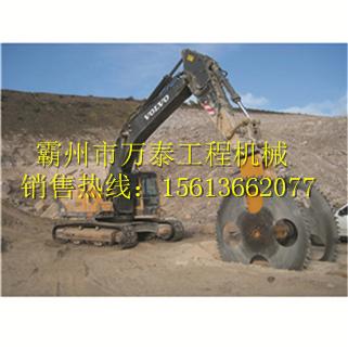 供应优质挖掘机挖掘机液压开山锯岩石切刀矿山锯定制