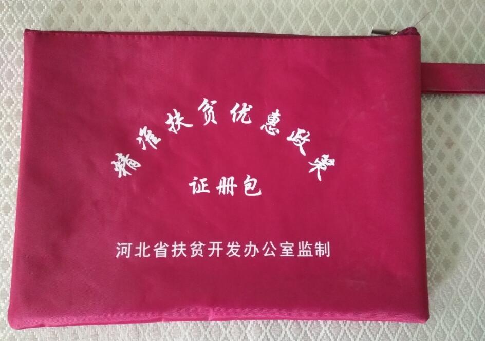 厂家供应精准扶贫资料袋收纳袋文件袋