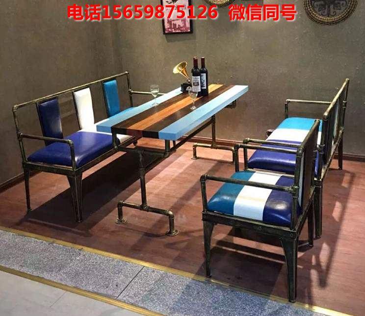 重庆餐厅实木桌椅 美式工业风休闲桌椅价格优惠