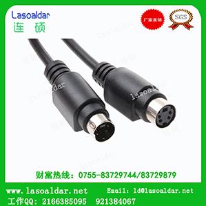 连达MINI DIN4P线S端子线音视频线机顶盒线电视机TV线信号线