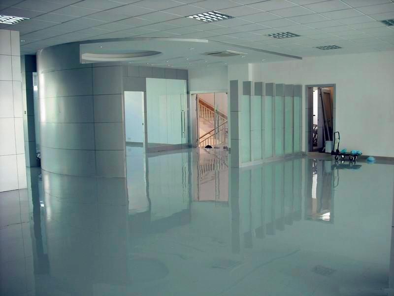 广州写字楼地板漆涂刷 君诚丽装专业办公室环氧地坪漆施工