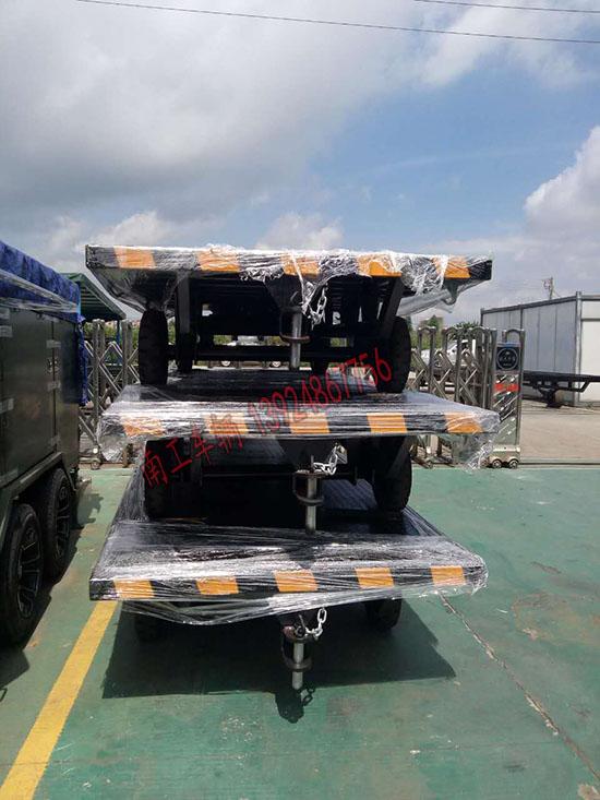 车间仓库专用3吨平板拖车