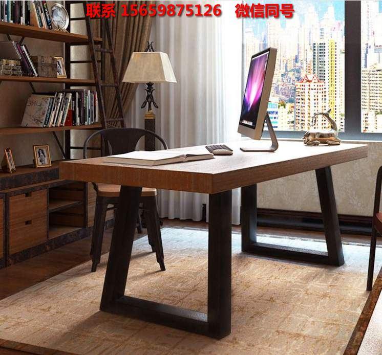 南京厂家简易办公桌定制哪里买美式会议桌电脑桌