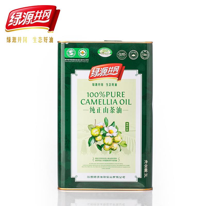供应绿源井冈 纯山茶油3物理压榨L食用油