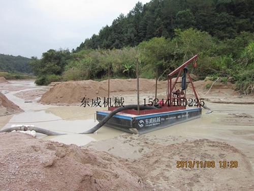 山东定制型吸沙船8寸抽沙泵柴油机动力抽沙平台