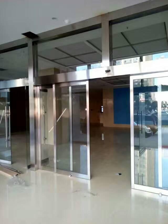 陕西玻璃地弹门、感应门、旋转门安装施工