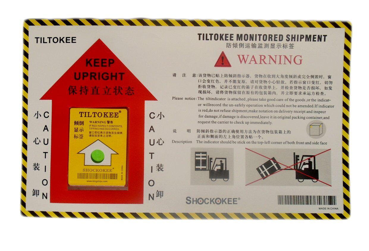 厂家直供物流运输监控防震防倾斜显示标签 专利产品  上海问鑫电子