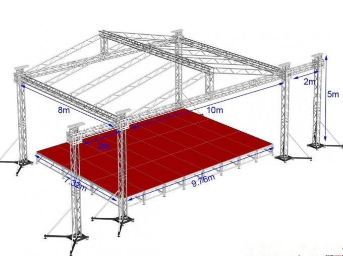 铝型材桁架10*8*5m舞台搭建,租赁,广州邦威展览有限公司