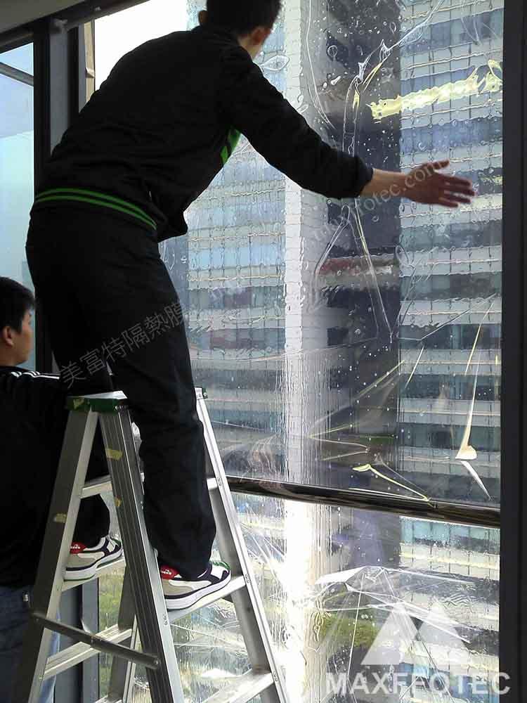 深圳诺德大厦建筑贴膜美富特隔热膜玻璃贴膜隔热膜建筑膜防爆膜专业贴膜