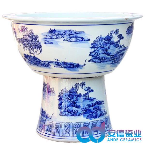 定做陶瓷缸 家居客厅摆设陶瓷鱼缸