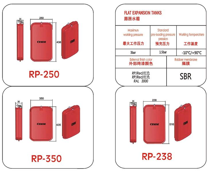 高品质进口CIMM RP系列膨胀水箱
