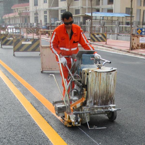 泰安宏凯交通设施专业道路热熔标线和园区道路划线施工