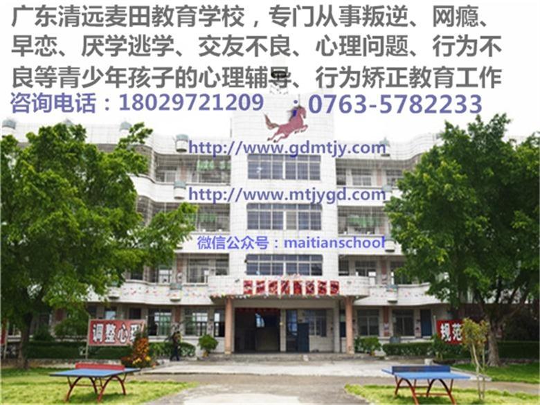 广东叛逆孩子学校,广东清远麦田教育学校