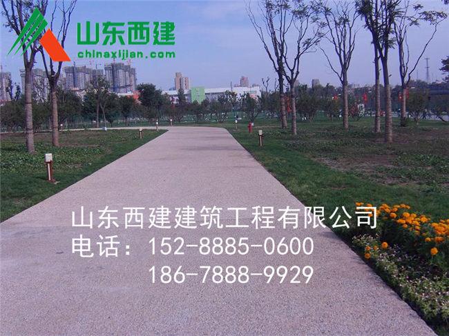 湘西州透水地坪胶结料[实力商家]泸溪县透水混凝土路面