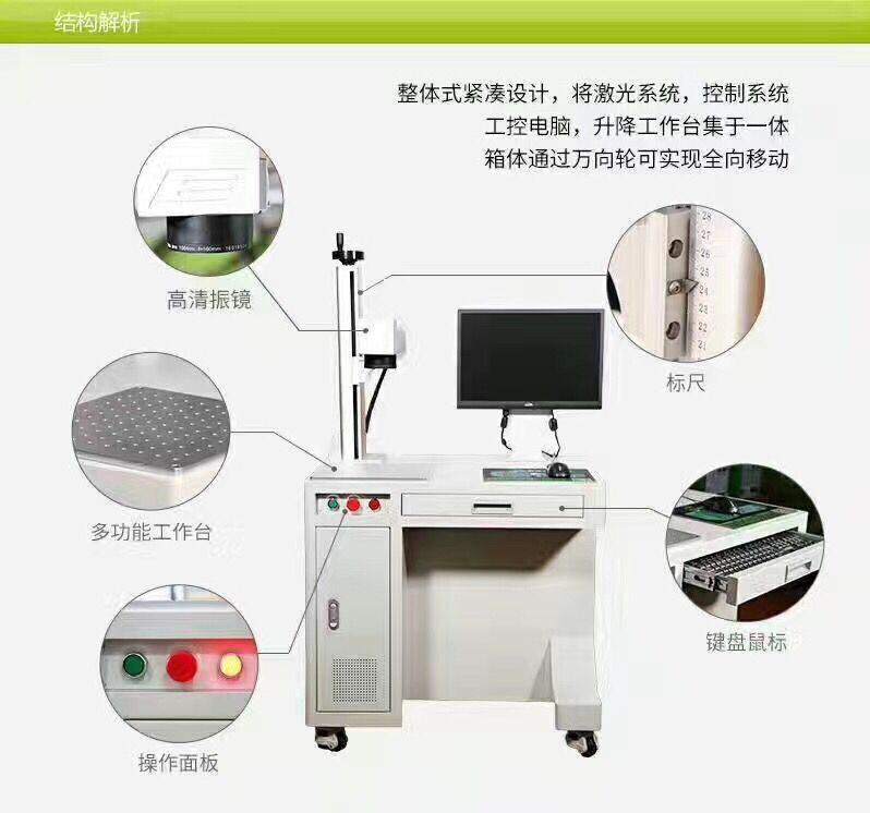 供应2017热销款光纤激光打标机HSMFP-20W
