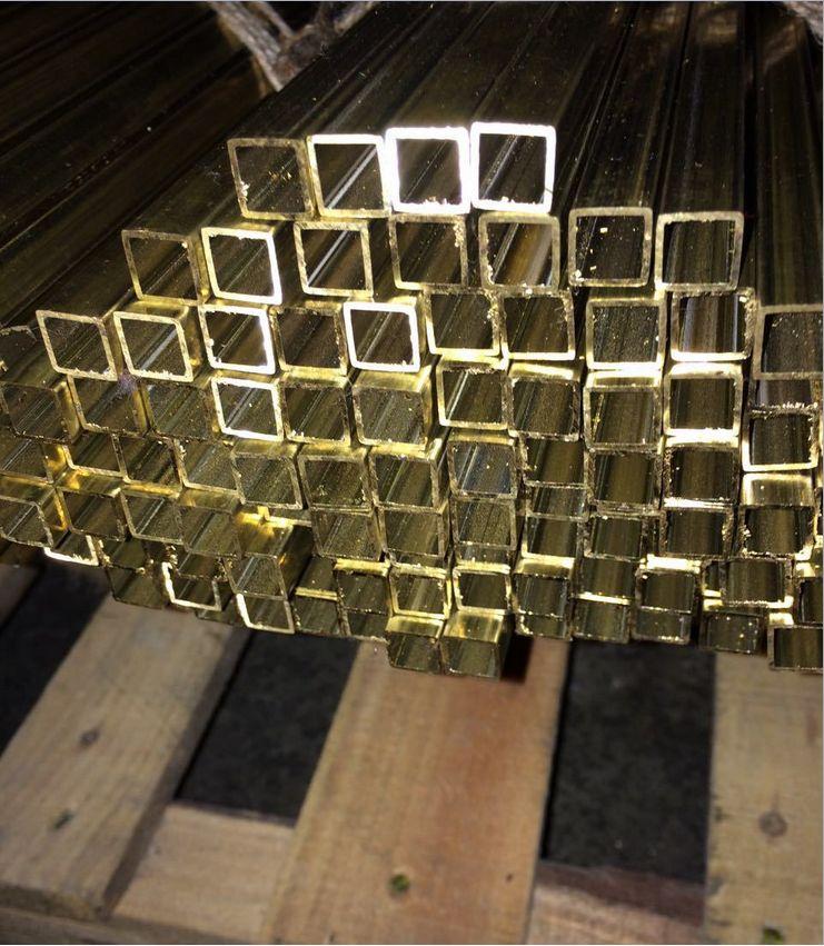 广州H62拉丝方管 拉丝黄铜方管价格