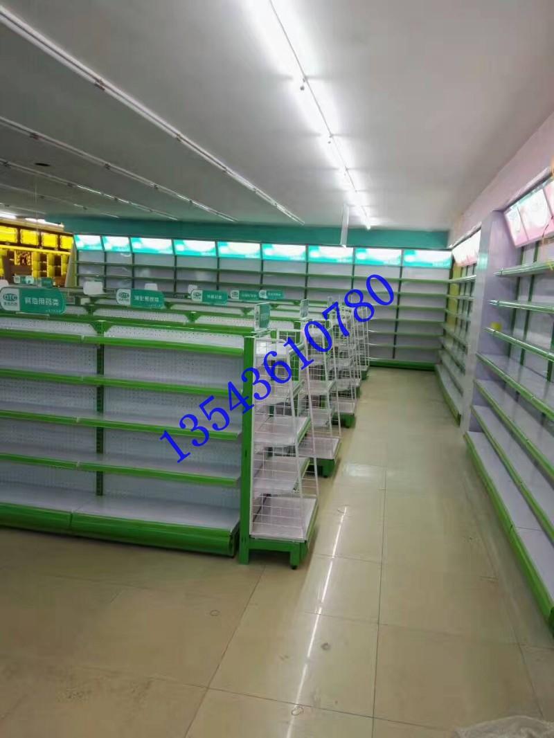 药房烤漆柜台货架定做1.8米双面货架特定制顺德展柜货架