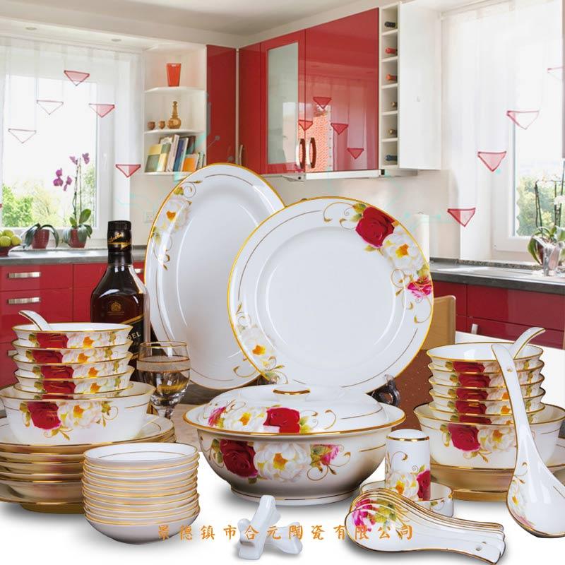 陶瓷餐具定做厂家 景德镇陶瓷餐具礼品