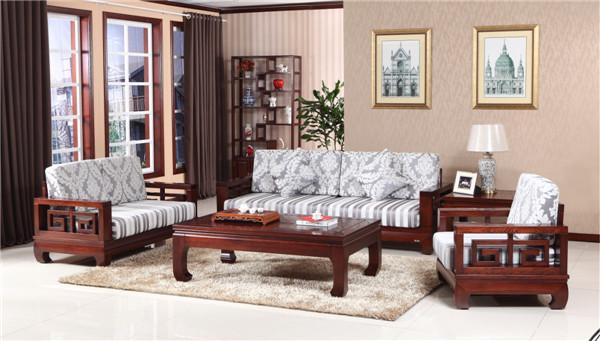 山东木言木语实木实发本地家具品牌,1+2+3组合沙发畅销省内外
