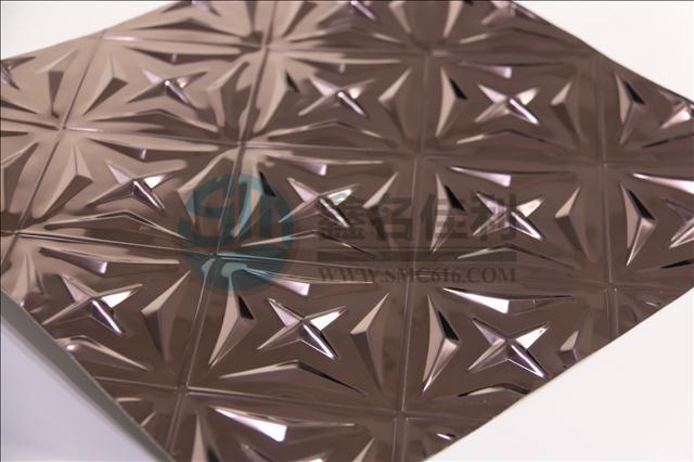 佛山名佳利供应201不锈钢镜面玫瑰金冲花板