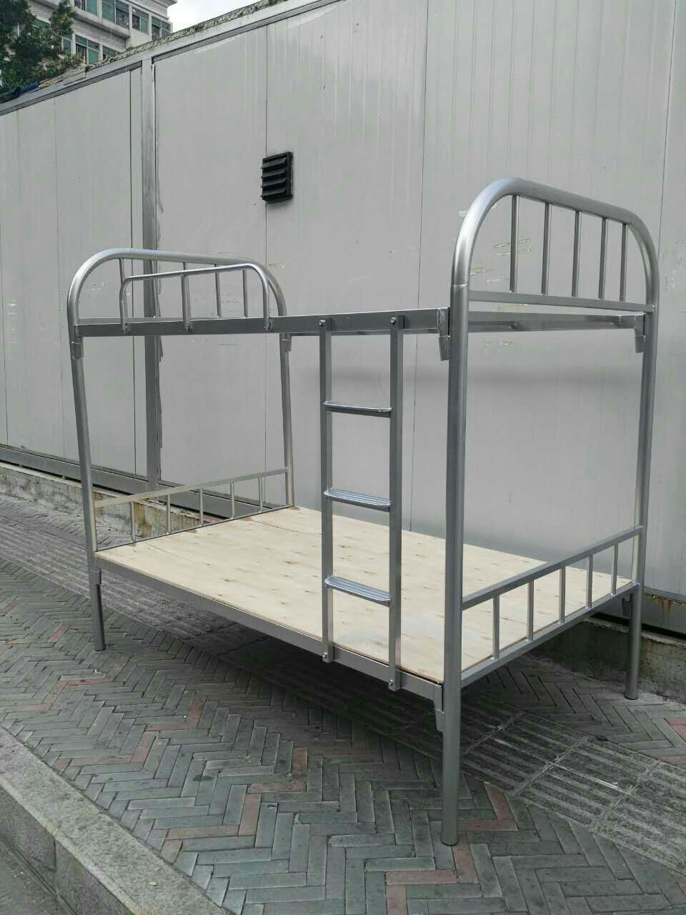 厂家定做双层铁架床-拆装学校双层铁架床定制