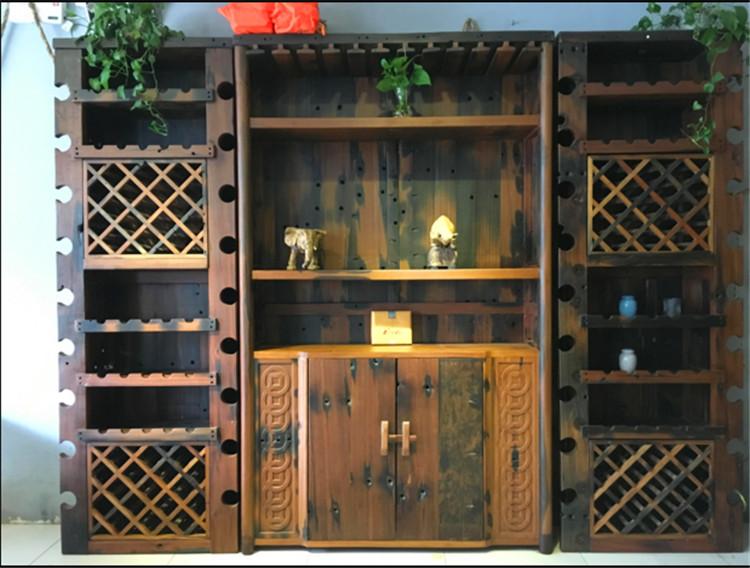 老船木酒柜老船木书架船木家具厂老船木书柜