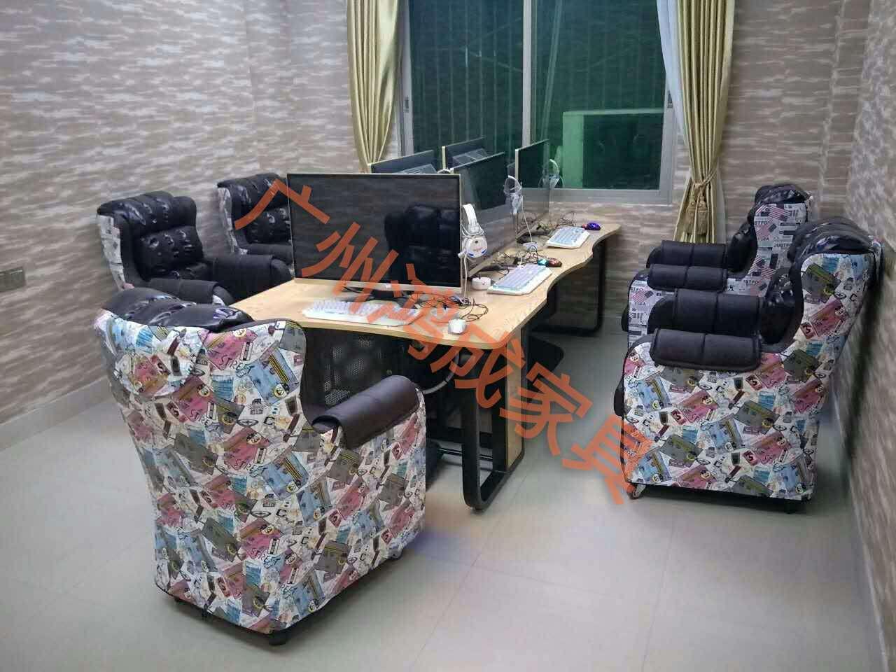 湖北咖啡桌椅定做,鸿成网吧网咖家具厂家
