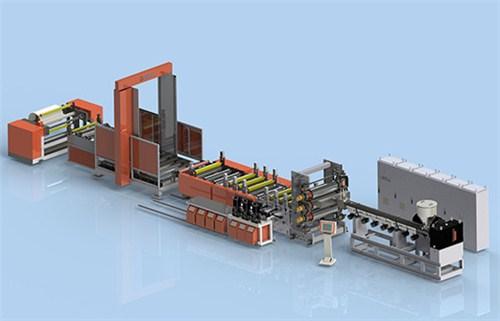 双向拉伸薄膜挤出生产线 金韦尔供 拉伸薄膜挤出生产线