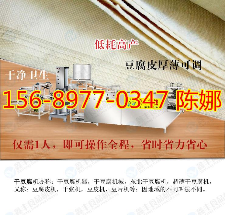 德州干豆腐机演示 干豆腐皮机 机制干豆腐机器