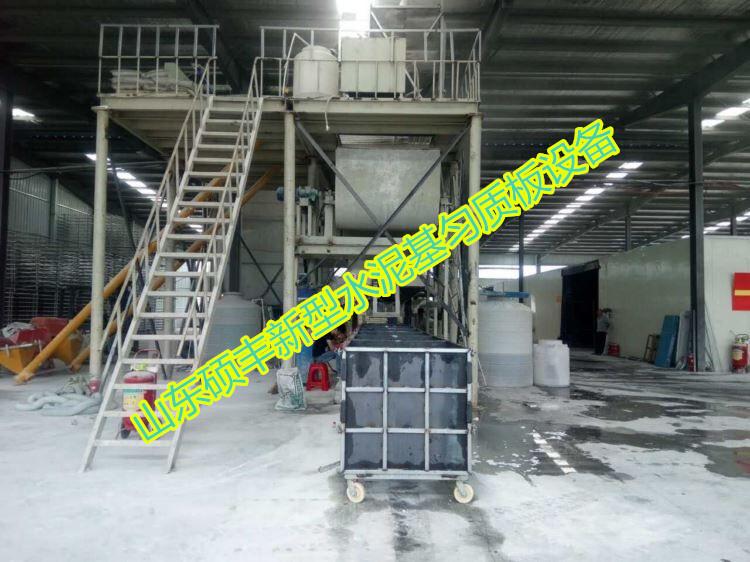 超新型環保外墻保溫防火水泥基勻質板設備廠家