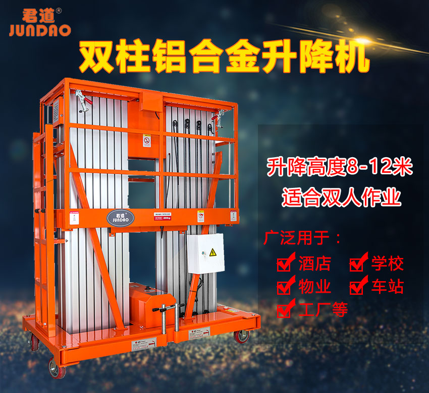 广东东莞10米双柱式铝合金升降机