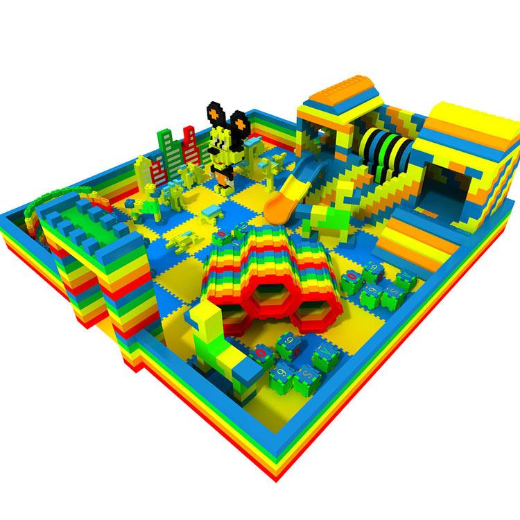 epp积木乐园儿童积木城堡室内积木儿童乐园