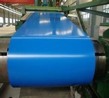 上海宝钢瓷蓝镀锌聚酯彩涂钢板