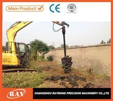 反铲式装载机用挖坑螺旋钻机