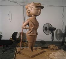 当代艺术雕塑《三胞胎
