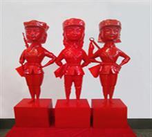当代艺术雕塑《三胞胎姐妹》b-3
