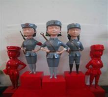 当代艺术雕塑《三胞胎姐妹》b-4