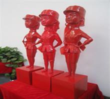 当代艺术雕塑《三胞胎姐妹》b-5