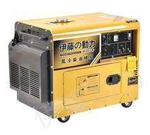 工业备用静音式5000瓦柴油发电机