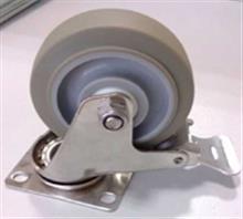 供应中型304不锈钢TPR脚轮