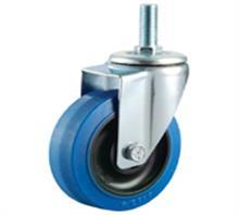 威霸直供中型蓝色弹力橡胶脚轮
