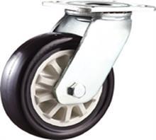 威霸直供重型双轴黑色通花PU脚轮