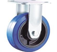 威霸直供重型蓝色高弹力橡胶脚轮