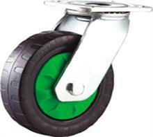 威霸直供重型双轴防滑橡胶脚轮