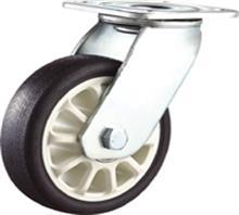 供应重型黑色防滑聚氨酯PU脚轮