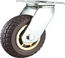威霸直供重型双轴发泡橡胶脚轮
